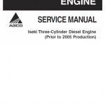 Iseki Three Cylinder Diesel Engine Manual