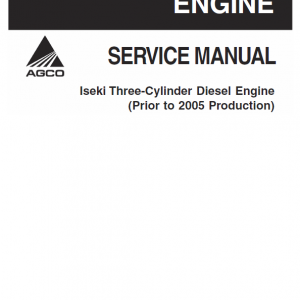 Iseki Three Cylinder Diesel Engine Manual