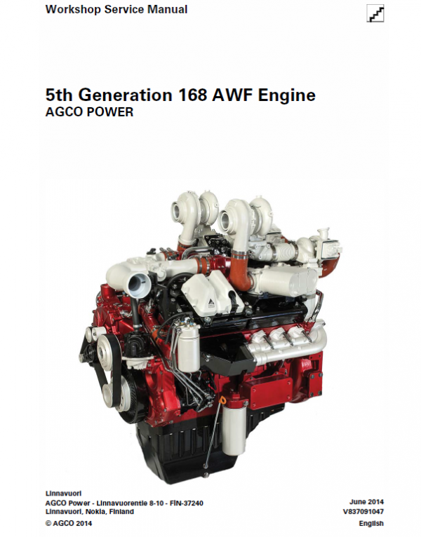 AGCO 5th Generation 168 AWF Engine Manual