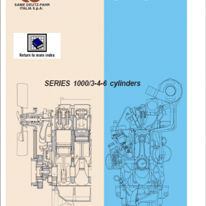 DEUTZ Engine Euro 2 Series 1000 Workshop Service Manual