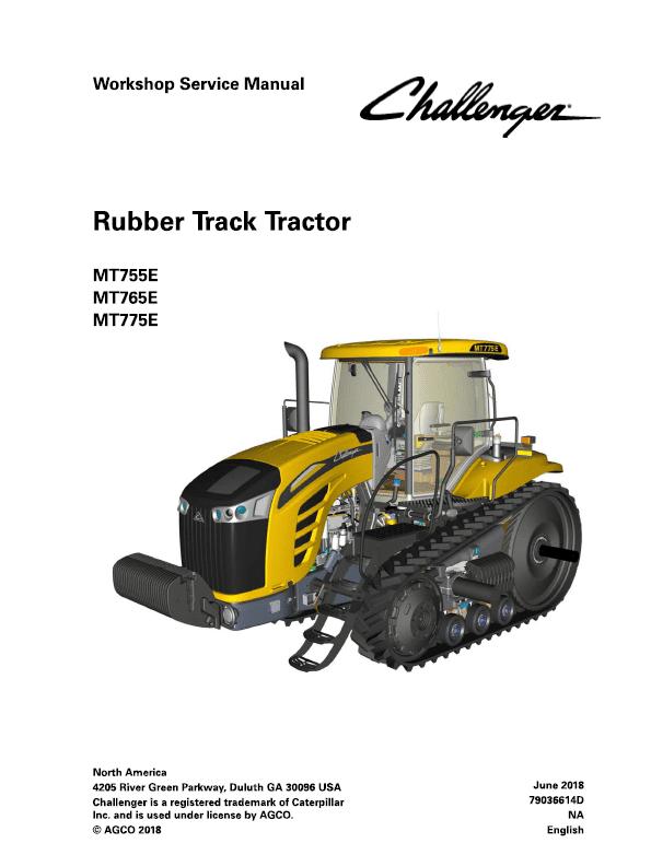 Challenger MT755E, MT765E, MT775E Tractor Service Manual