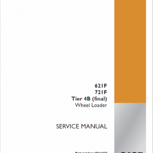 Case 621F, 721F, 721F Tier 4 Wheel Loader Service Manual