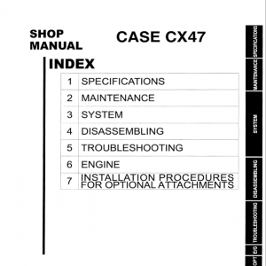 Case CX47 Excavator Service Manual
