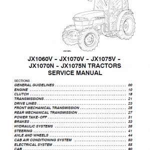 Case JX1060V, JX1070V, JX1075V, JX1070N, JX1075N Tractor Service Manual
