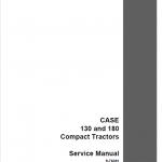 Case 130, 180 Tractor Service Manual