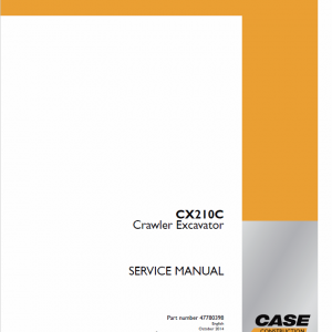 Case CX210C Crawler Excavator Service Manual