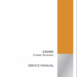 Case CX250C Crawler Excavator Service Manual
