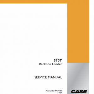 Case 570T Backhoe Loader Service Manual
