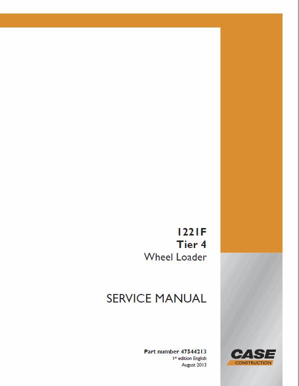 Case 1221F Wheel Loader Service Manual