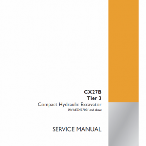 Case CX27B Excavator Service Manual