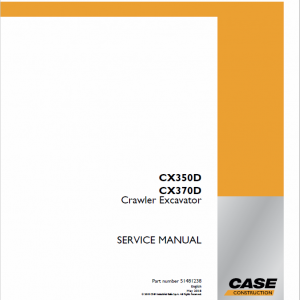 Case CX350D, CX370D Excavator Service Manual