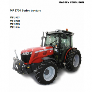 Massey Ferguson 3707, 3708, 3709, 3710 Tractor Manual