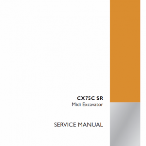 Case CX75C SR Tier 4 Excavator Service Manual