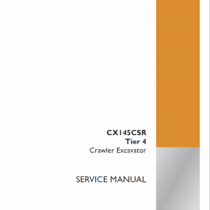 Case CX145CSR Tier 4 Excavator Service Manual