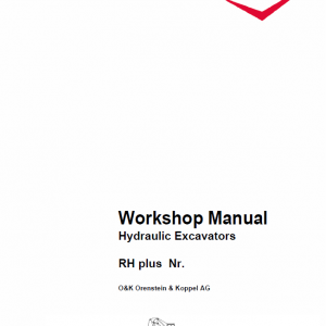 Case O&K RH Plus Excavator Service Manual