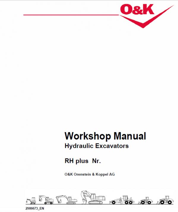 Case O&K RH Plus Excavator Service Manual