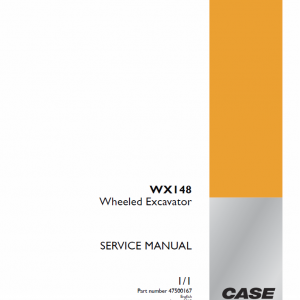 Case WX148 Wheeled Excavator Service Manual
