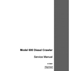 Case Terratrac 600 Crawler Dozer Service Manual