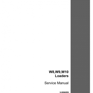 Case W8, W9, W9A, W10, W12 Loader Service Manual