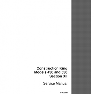 Case 430, 530 Construction King Loader Service Manual