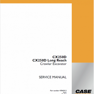 Case CX250D Crawler Excavator Service Manual
