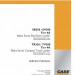 Case TR320, TV380 Track Loader Service Manual