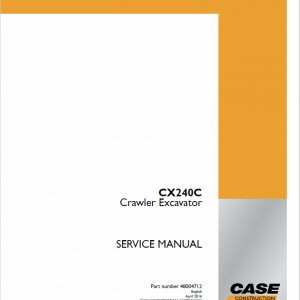 Case CX240C Crawler Excavator Service Manual