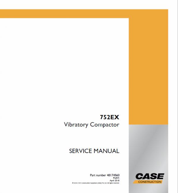 Case 752EX Vibratory Compactor Service Manual