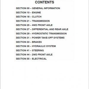 Case D25, D29, D33 Tractor Service Manual