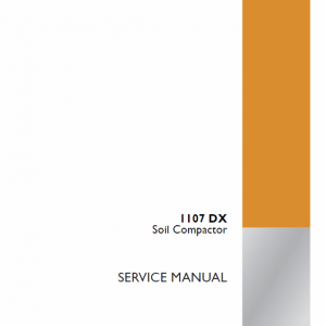 Case 1107DX Soil Compactor Service Manual
