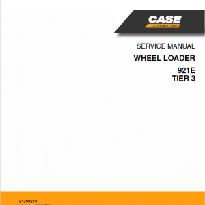 Case 921E Wheel Loader Service Manual