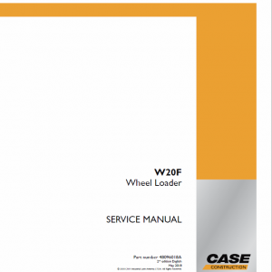 Case W20F Wheel Loader Service Manual
