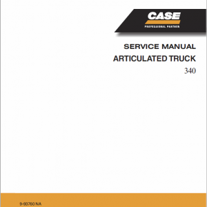 Case 340 Articulated Truck Service Manual