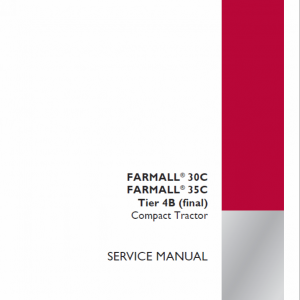 Case Farmall 30C, 35C, 40C Tractor Service Manual