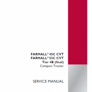 Case Farmall 45C, 55C Tractor Service Manual