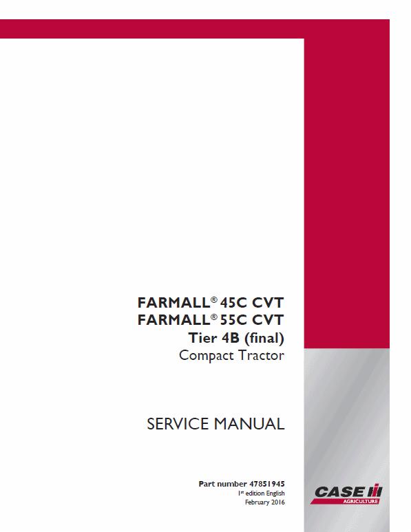 Case Farmall 45C, 55C Tractor Service Manual