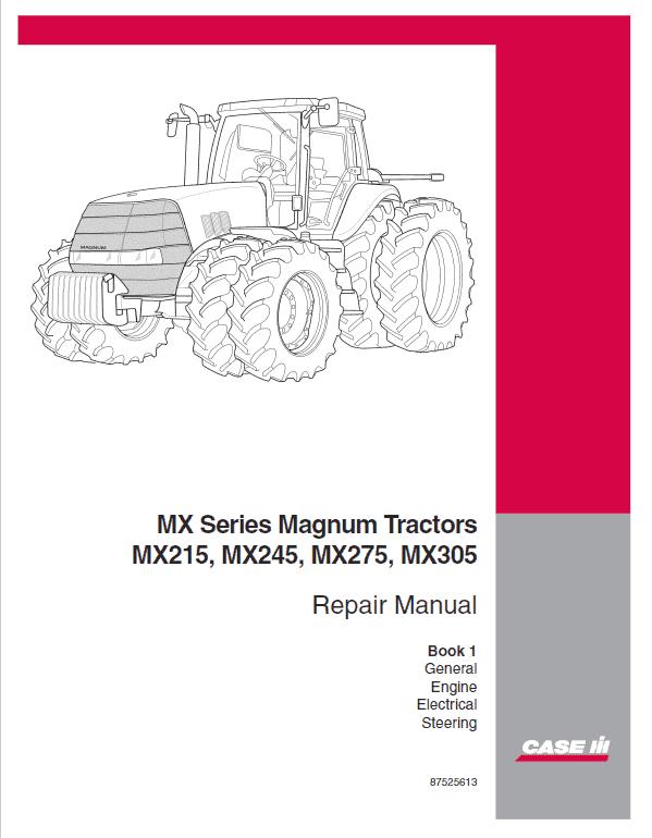Case MX215, MX245, MX275, MX305 Tractor Service Manual