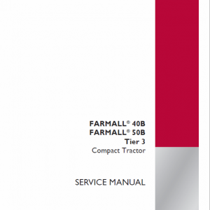 Case Farmall 40B, 50B Tractor Service Manual