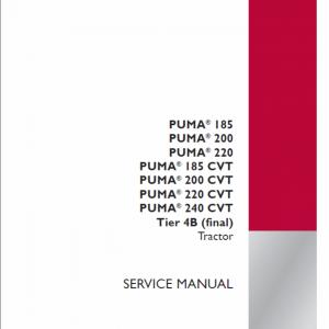 Case Puma 185, 200, 220, 240 CVT Tractor Service Manual
