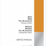 Case DV23, DV26, DV23CC, DV26CC Roller Service Manual