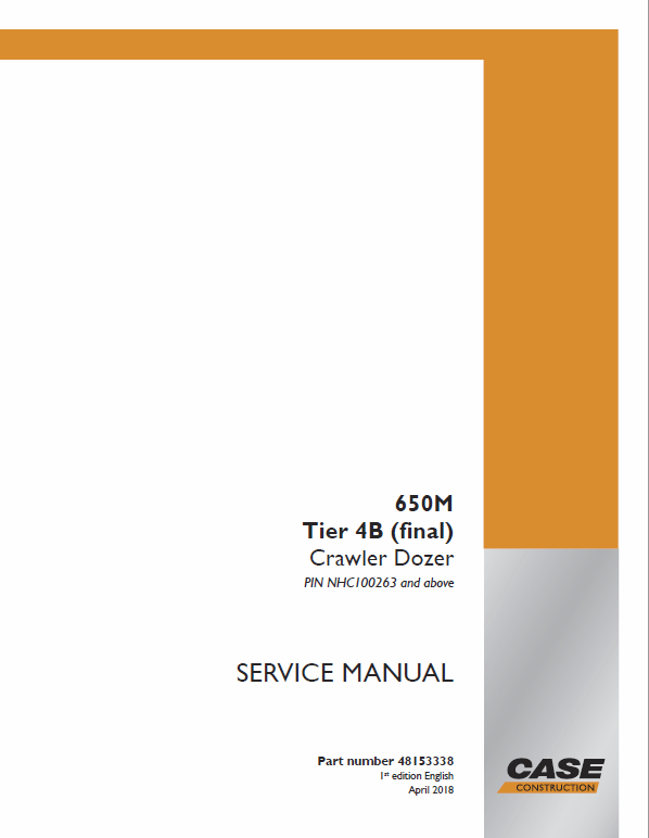 Case 650M Crawler Dozer Service Manual