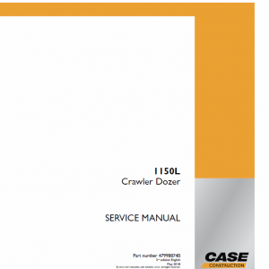 Case 1150L Crawler Dozer Service Manual
