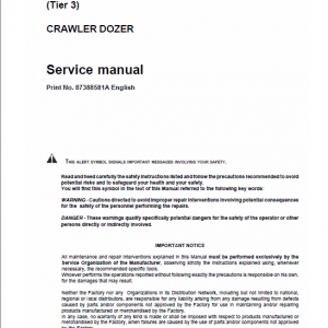 Case 1850K Crawler Dozer Service Manual