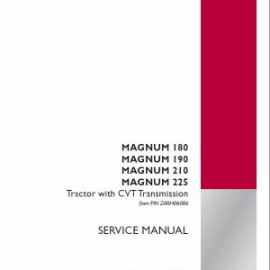 Case 180, 190, 200, 210, 225, 220, 240 Magnum Tractor Service Manual