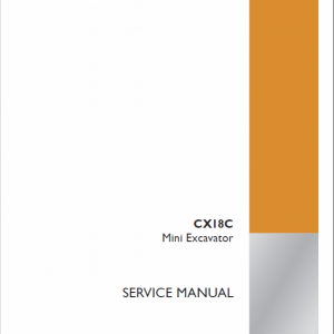 Case CX18C Mini Excavator Service Manual