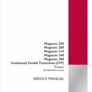 Case 250, 280, 310, 340, 380 Magnum Tractor Service Manual