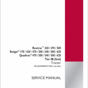 Case 370, 420, 470, 500 Rowtrac Tractor Service Manual