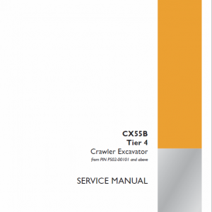 Case CX55B Mini Excavator Service Manual