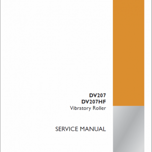 Case DV207, DV207HF Vibratory Roller Service Manual