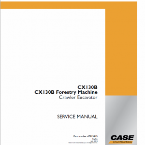 Case CX130B Crawler Excavator Service Manual